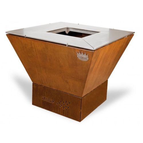 Barbecue A Legna E Carbonella Clementi Gringo Con Base Cube