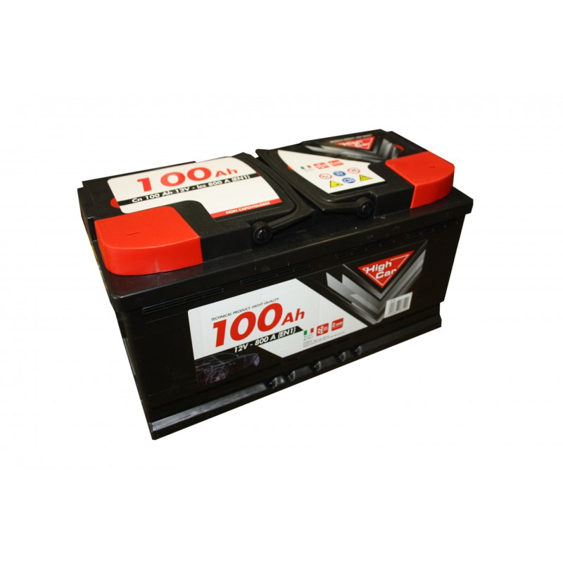 BATTERIA PER AUTO 100AH - HIGH CAR