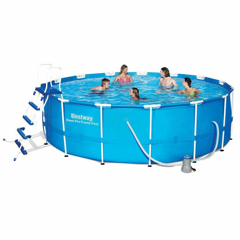 Bestway piscina fuoriterra con struttura 457x122cm + pompa filtro scaletta 56438