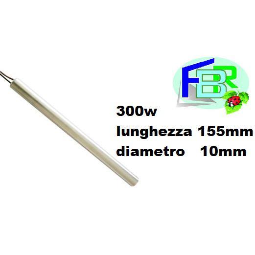 RESISTENZA CANDELETTA ACCENSIONE STUFA A PELLET 300W 155mm 10mm RAVELLI - TMC - DAL ZOTTO - EDILKAMIN