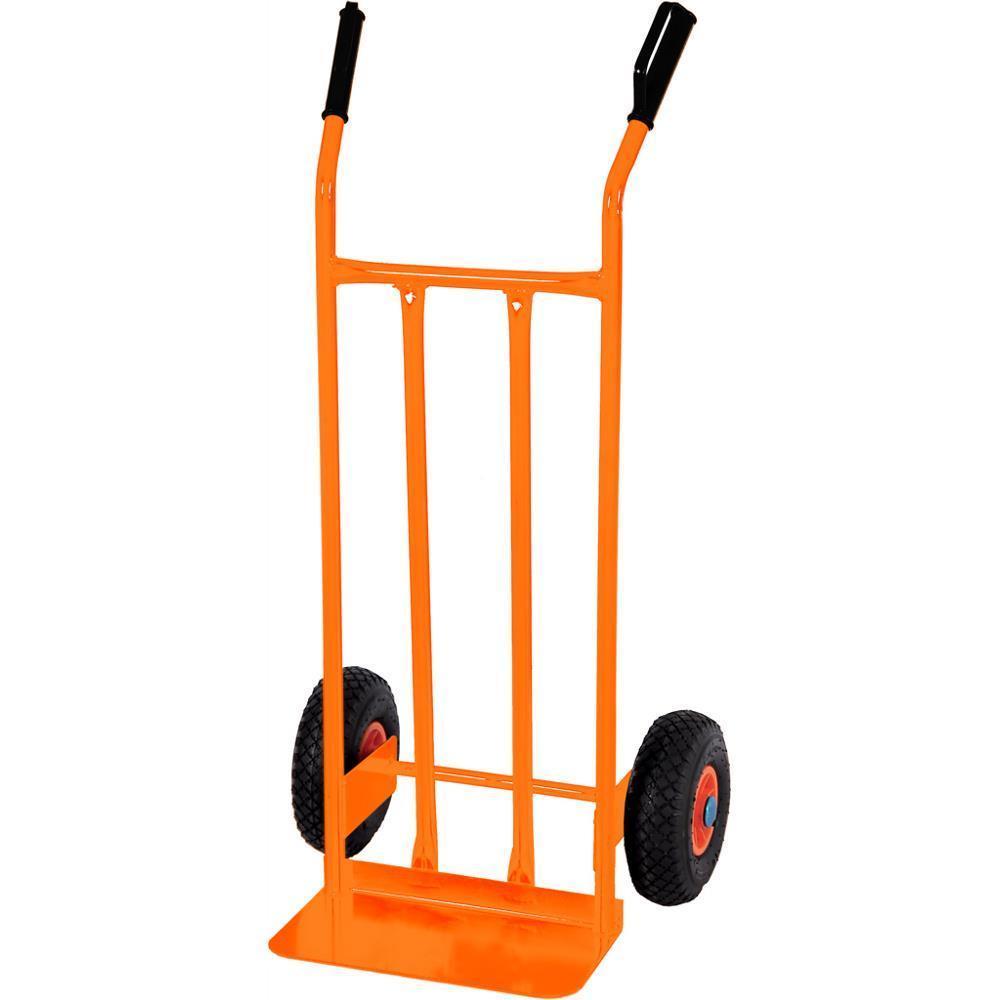 Carrello portapacchi brixo acciaio ruote pneumatiche piano 40x20 cm 200kg basic