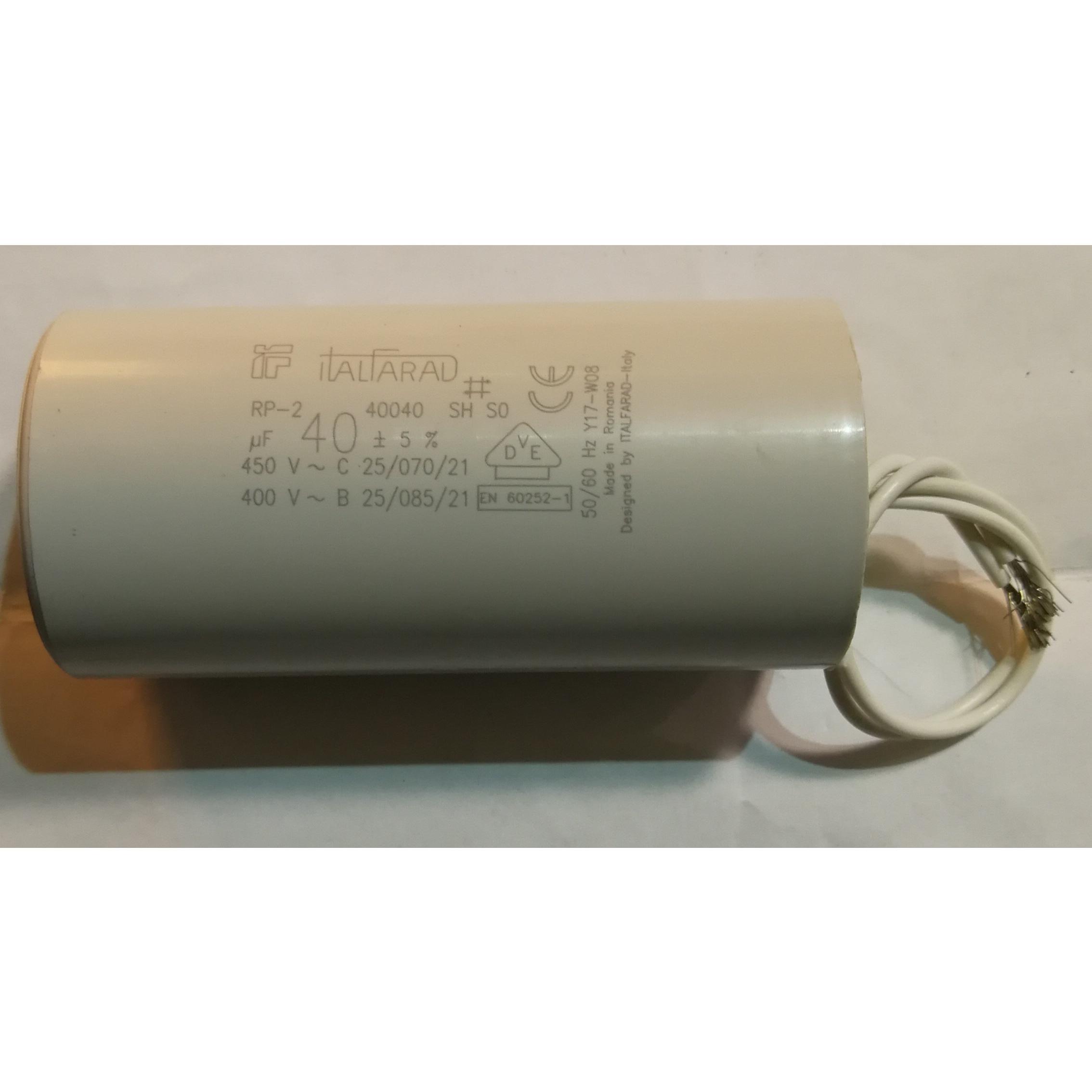 Condensatore elettrodomestici vari 40 μF ITALFARAD
