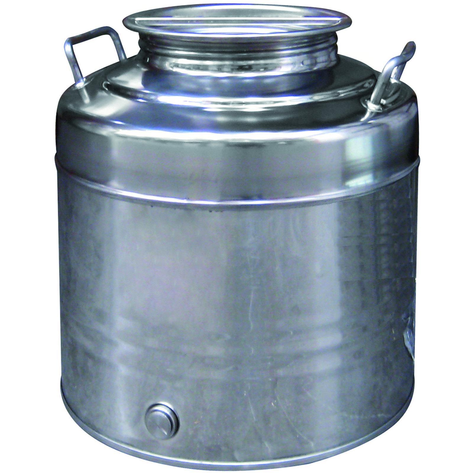 Contenitore fusto olio acciaio inox alimentare Maffei serie Fusto 50 lt bidone