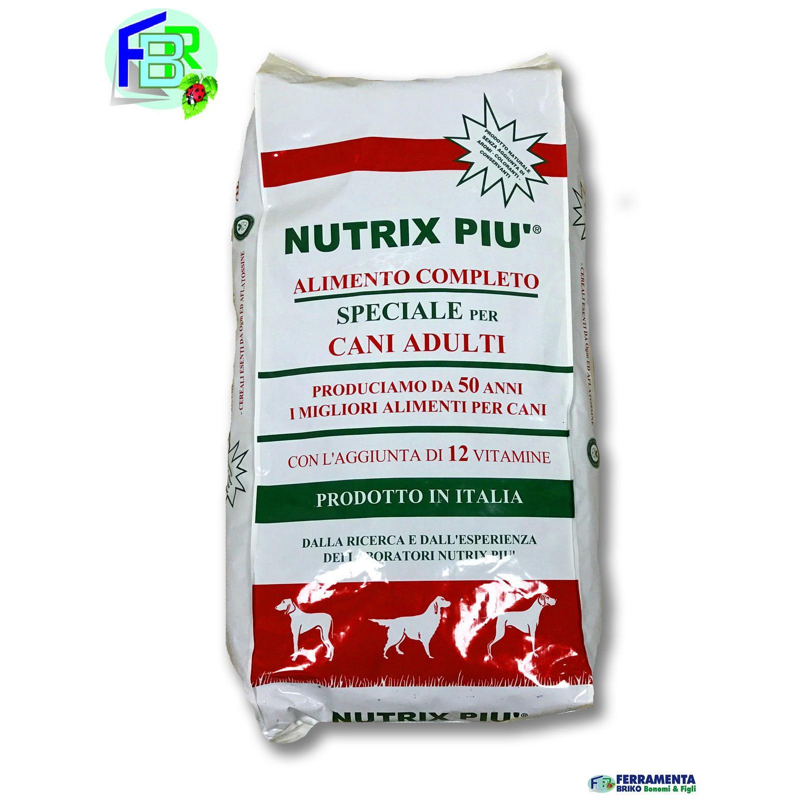 CROCCHETTE MANGIME NUTRIX PIU 20KG MANTENIMENTO CANE ADULTO 12 VITAMINE