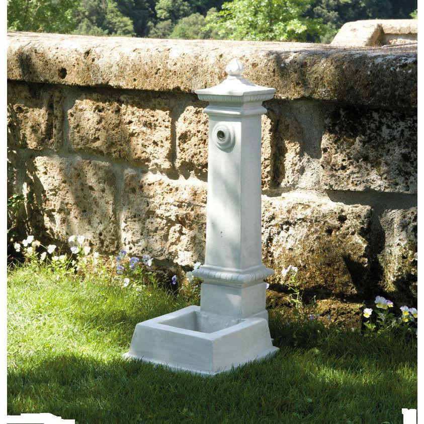 Fontana da giardino in cemento marmo pietra esterno h 80 abaco - Fontane da giardino in pietra ...