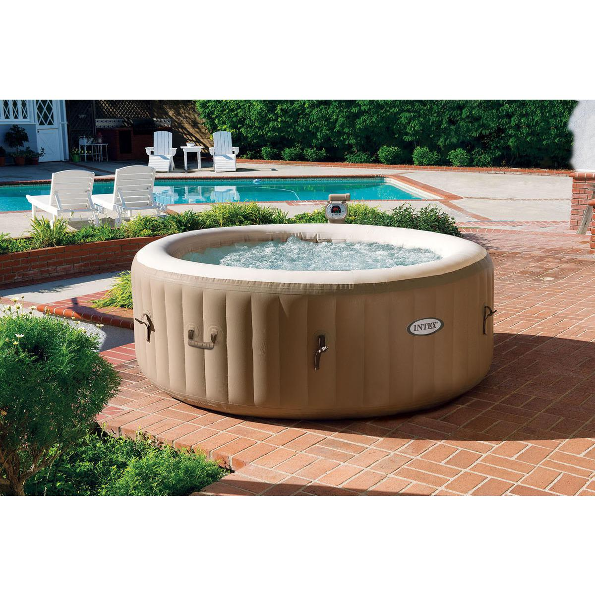 Intex Piscina Idromassaggio Spa Bubble Therapy 196x71cm 120 Getti