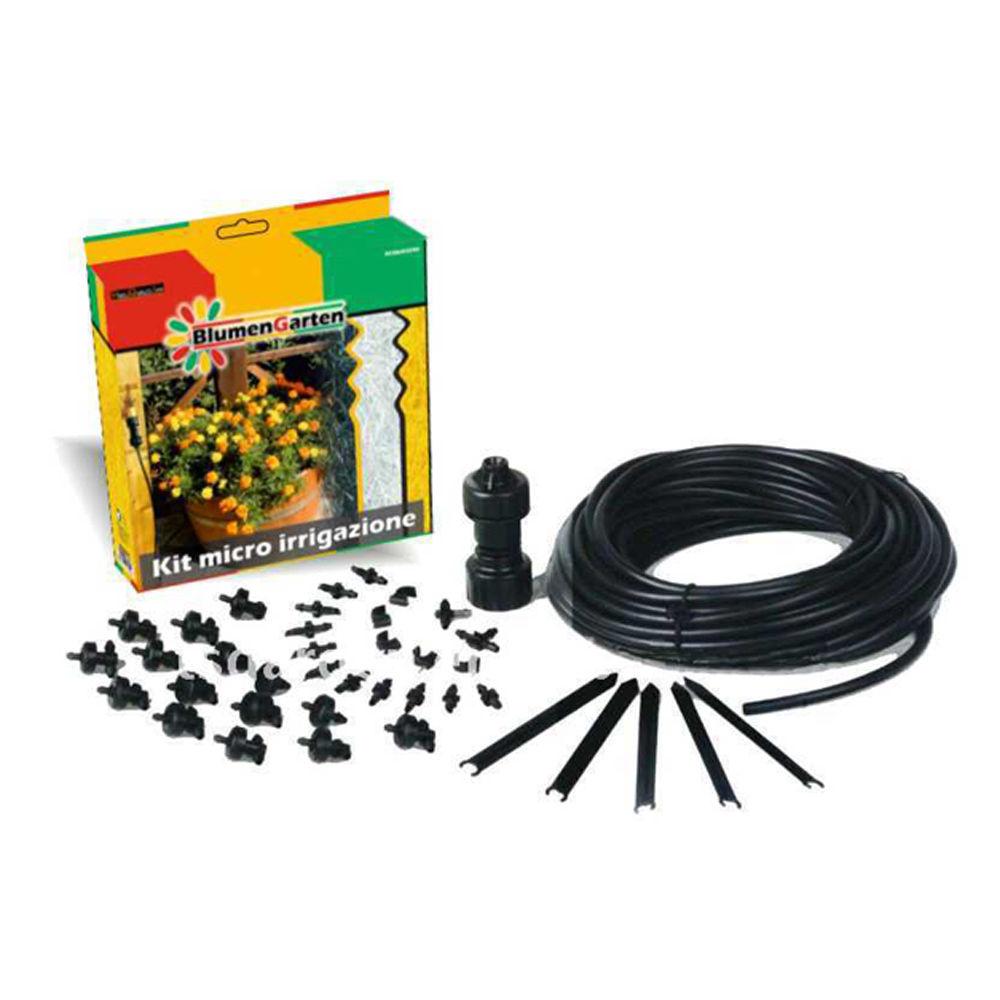 Kit micro irrigazione tubo gocciolatoi adattatori acqua giardinaggio orto 5590