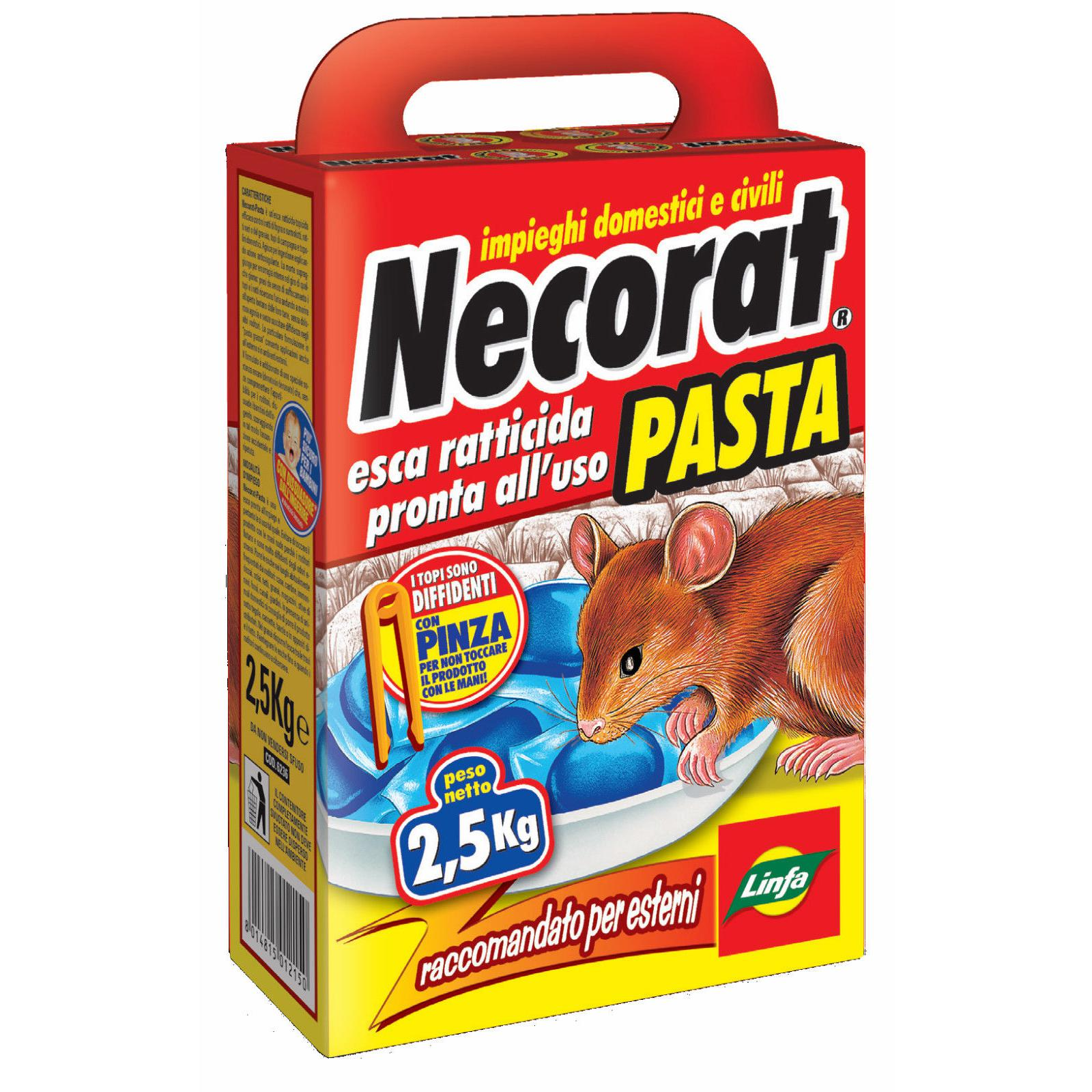 LINFA ESCA PASTA VELENO TOPI TOPICIDA RATTICIDA 2,5 kg PRONTO USO Mod. NECORAT