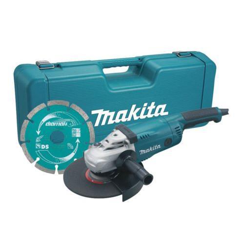 Makita Smerigliatrice angolare 2200W 230mm flessibile+ valigia e disco GA9020KD