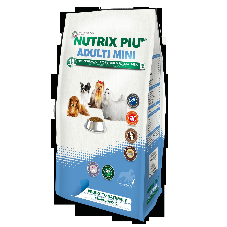 Mangime completo per cani adulti al di sotto dei 13 Kg nutrix 4kg