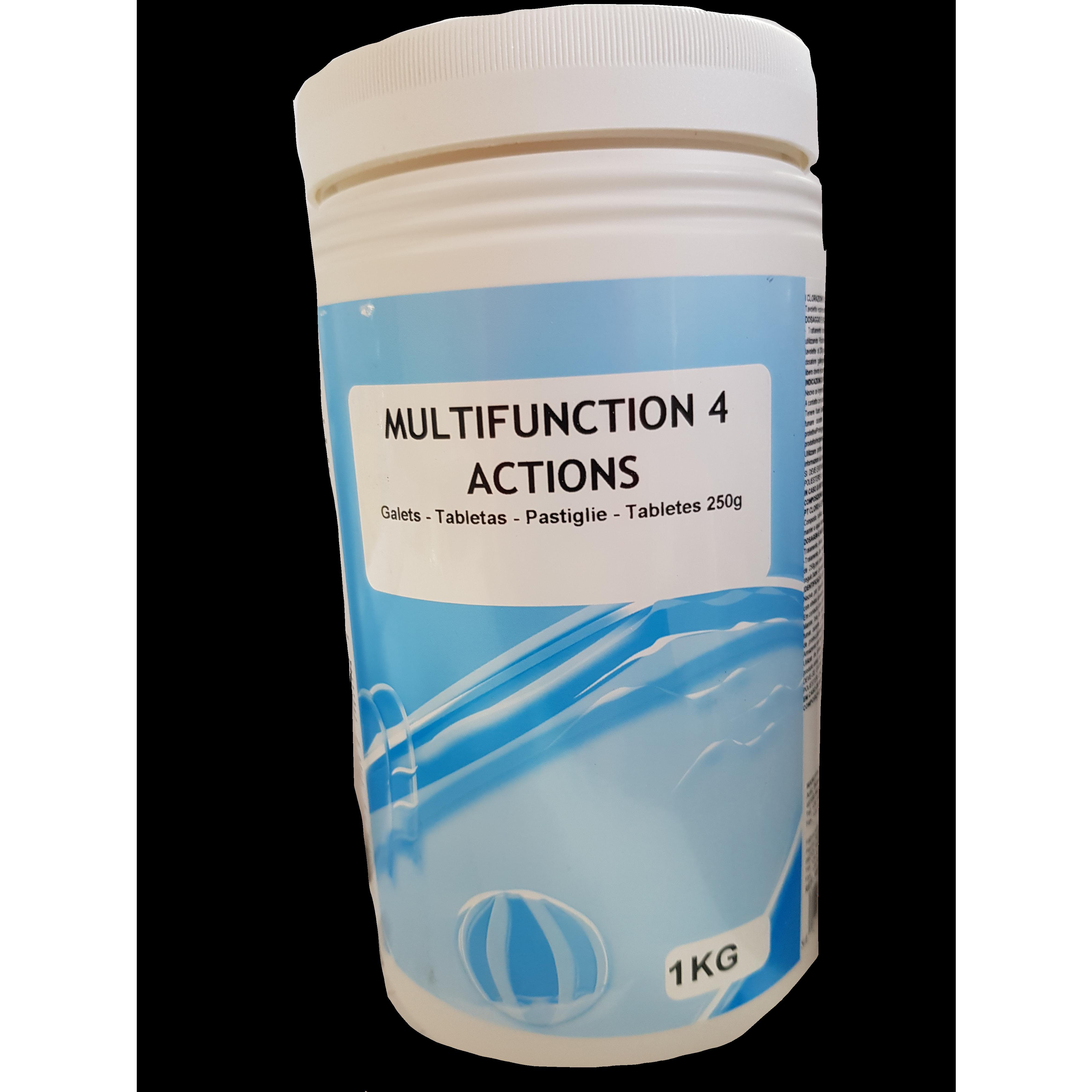 Pastiglie cloro 4 azioni Cloro + Antialghe + Stabilizzante + Flocculante 1 kg