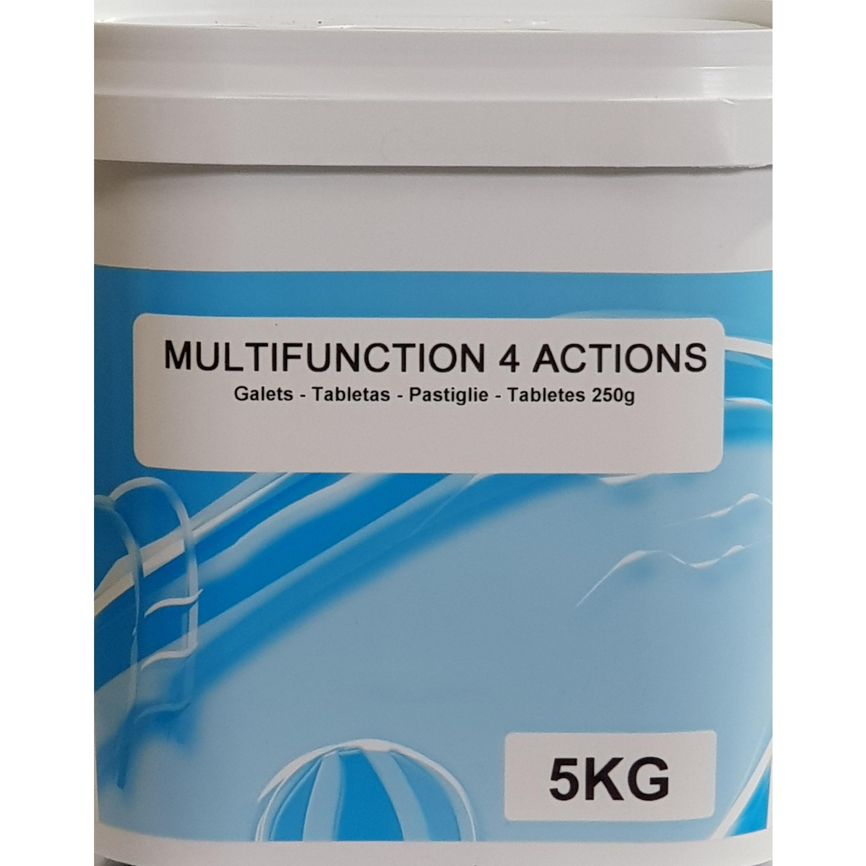 Pastiglie cloro 4 azioni Cloro + Antialghe + Stabilizzante + Flocculante 5 kg
