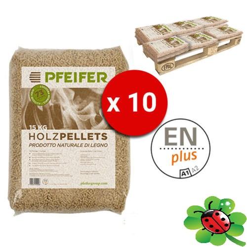 Pellet Pfeifer Holzpellet Bancali da 10 Sacchi Abete 15 Kg Certificato