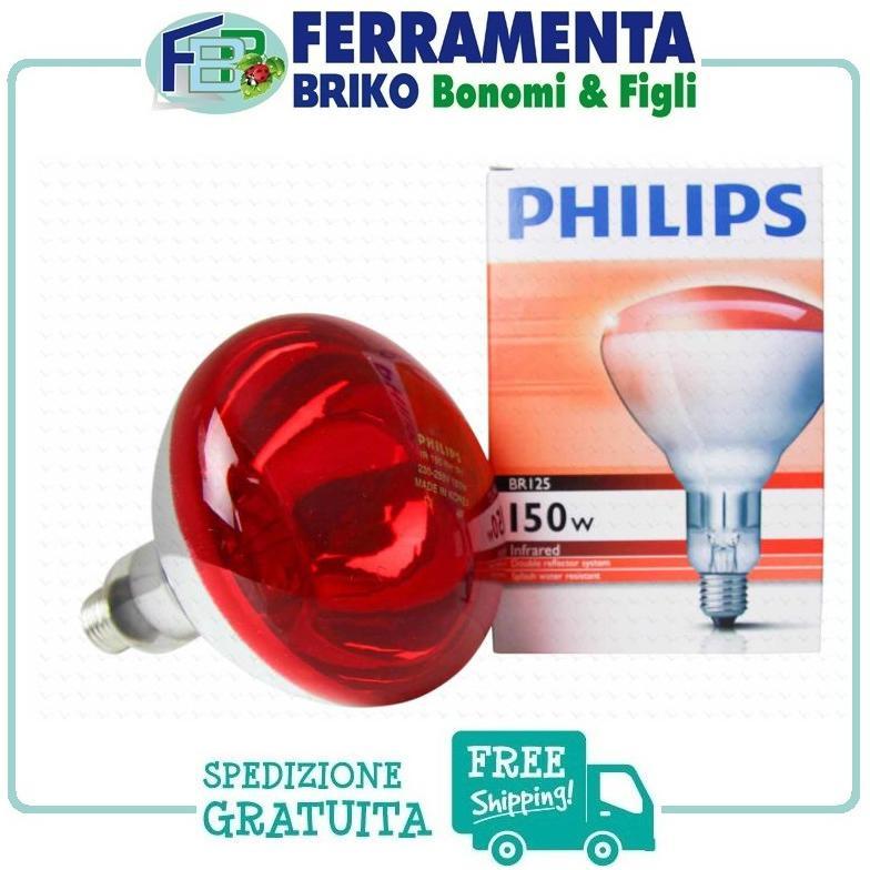PHILIPS LAMPADA INFRAROSSO 150W INCANDESCENTE 230-250V BR125