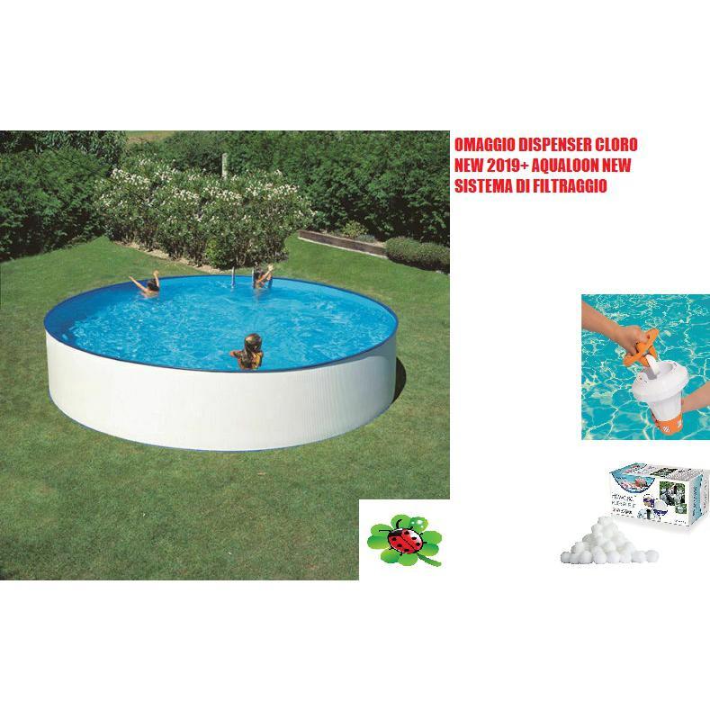 Piscina fuori terra Gre Lanzarote rotonda 350x90 cm con pannello acciaio