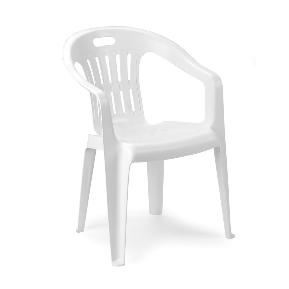 Sedie In Resina Da Esterno.Poltrona Sedia Con Braccioli In Resina Da Giardino Monoblocco
