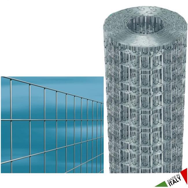 Rete CAVATORTA zincata, elettrosaldata 75x50 H.200 Rotolo da 25 mt  MARGHERITA