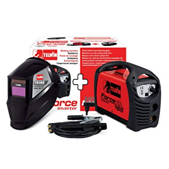 SALDATRICE INVERTER FORCE 165 TELWIN +ACCESSORI + MASCHERA TIGER