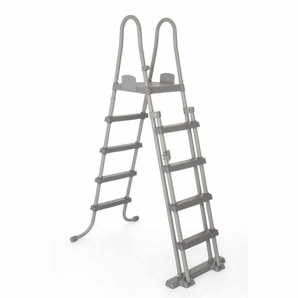 Scaletta sicurezza piscina fuori terra Bestway 58332 altezza 132cm antiscivolo