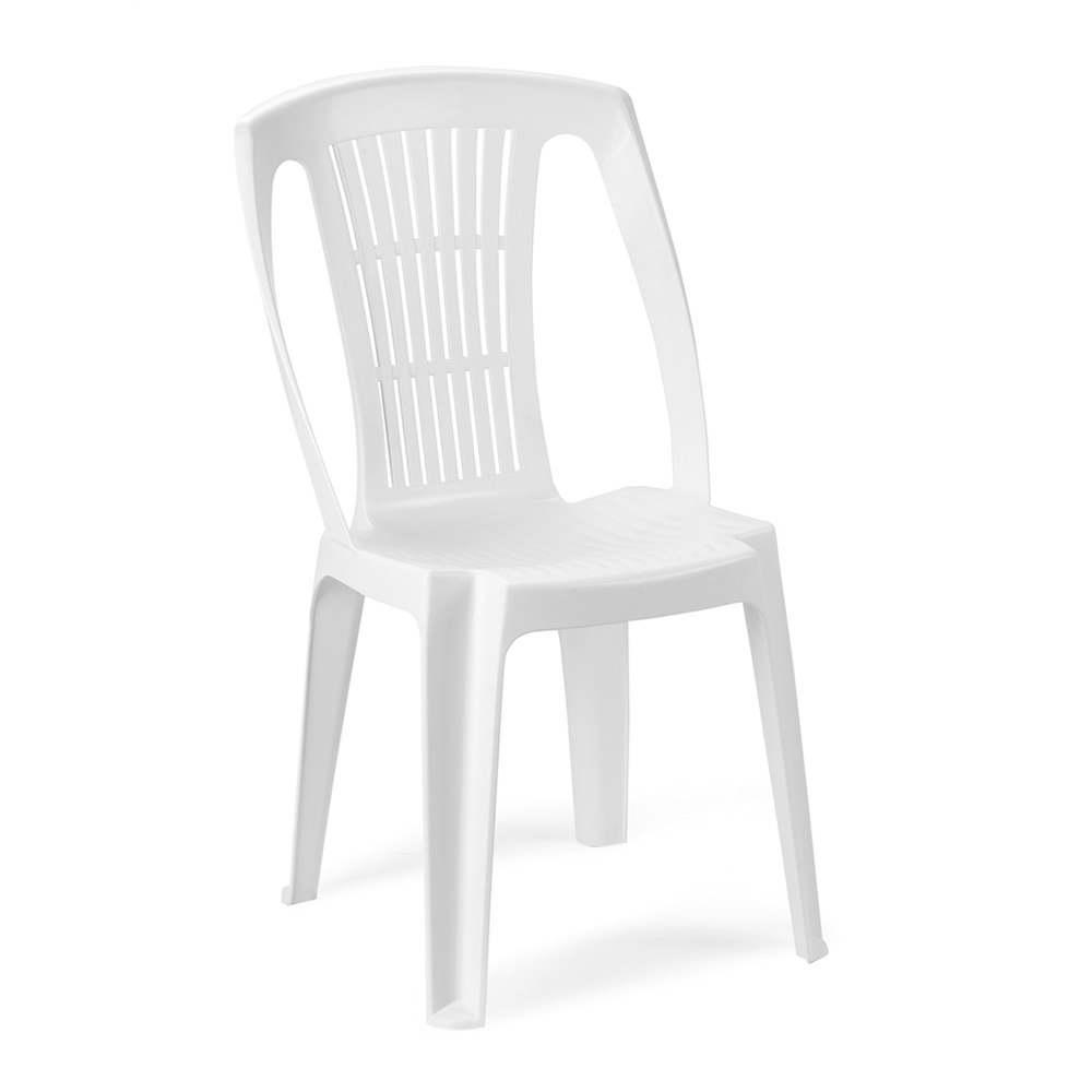 Sedie In Resina Da Giardino Senza Braccioli Colore Bianca
