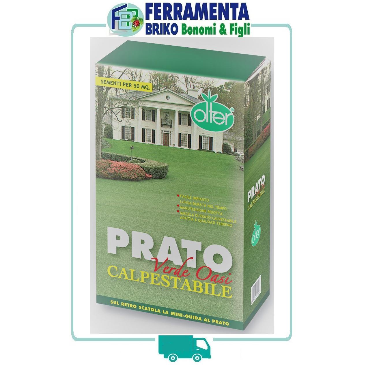 SEMI DA PRATO - CALPESTABILE - VERDE OASI OLTER CONFEZIONE 1 KG 50 Mq