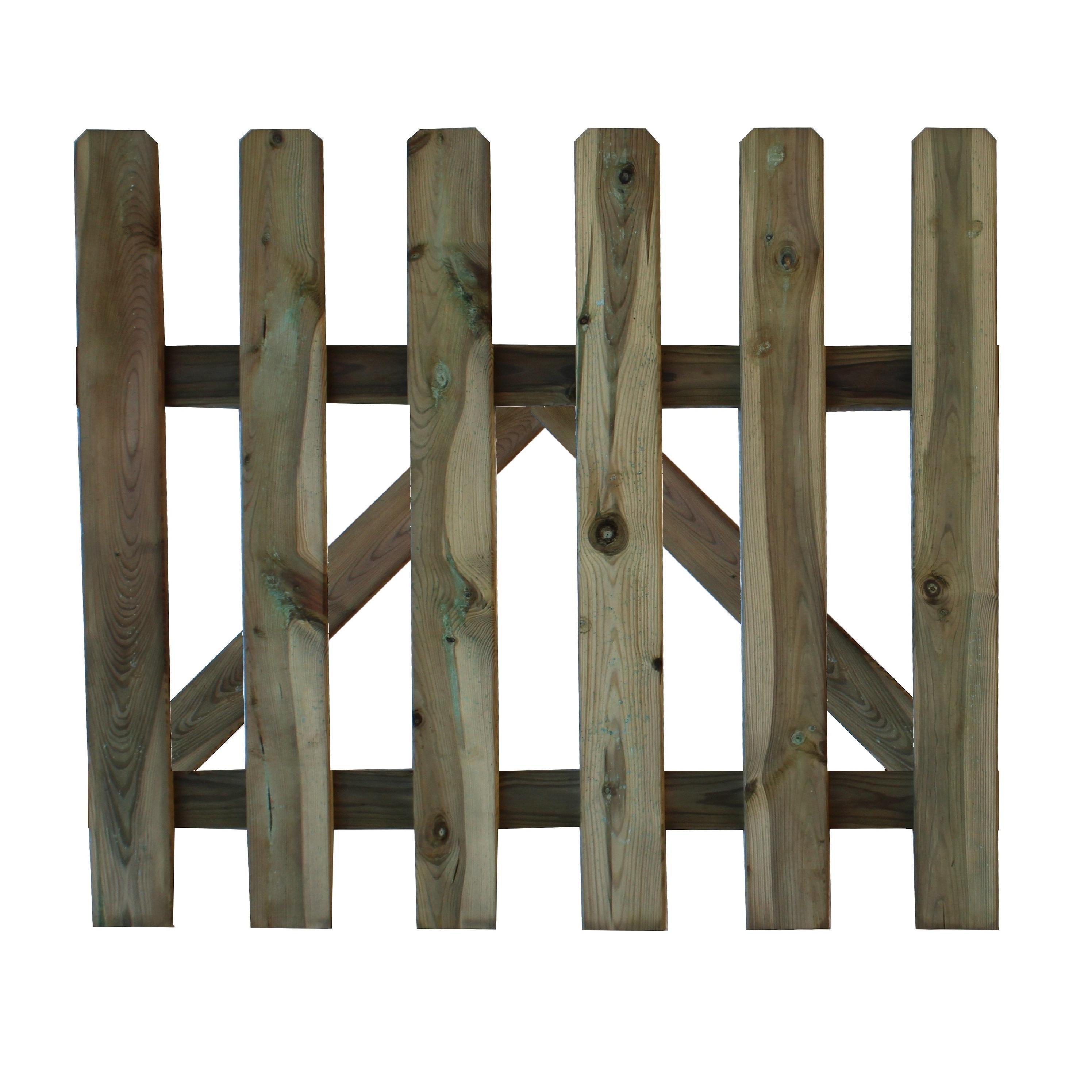 Set 2 pz Cancello per recinto steccato misure 80x100 in legno impregnato
