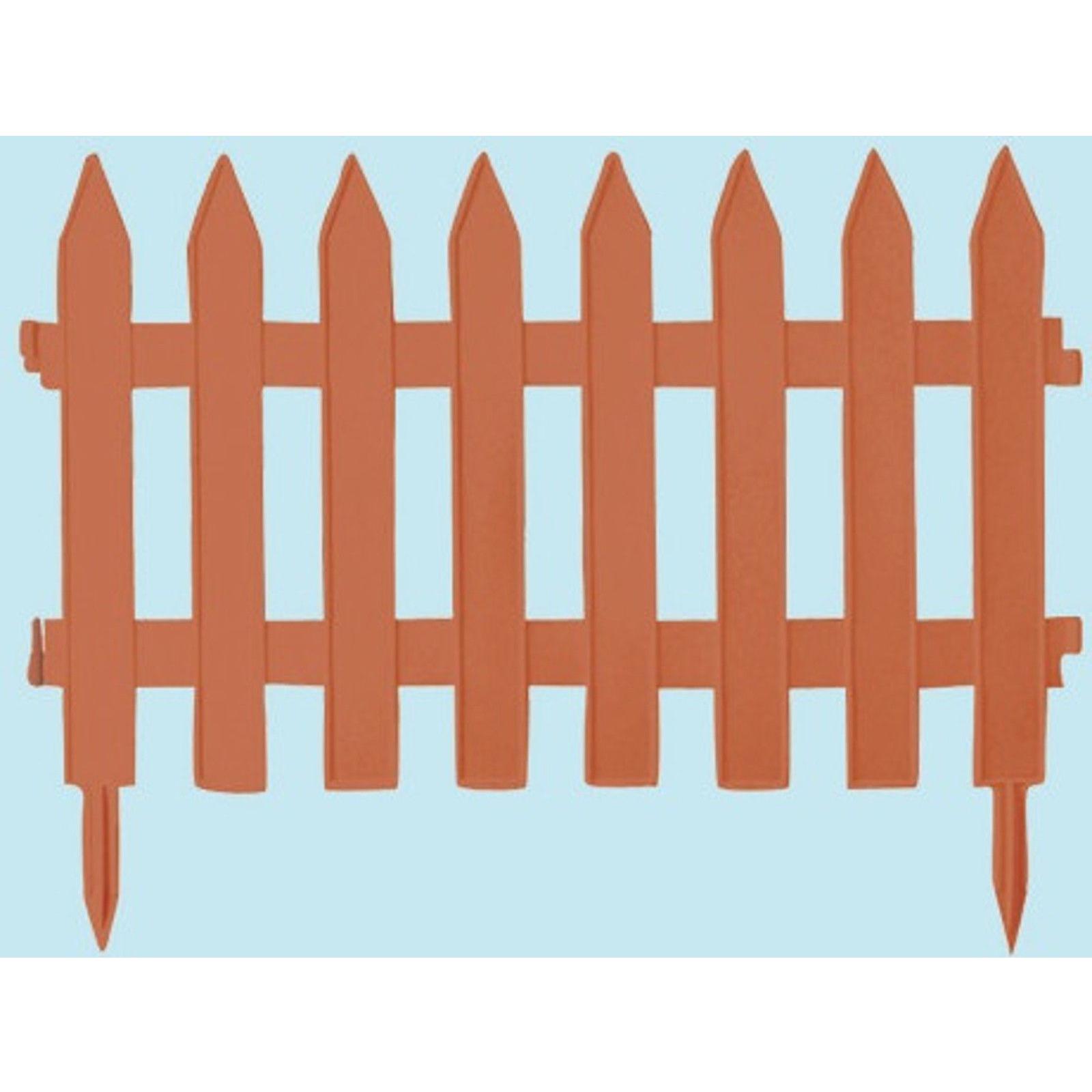 Staccionata steccato bordure recinzione in resina Garden Classic 7 pezzi 320 cm