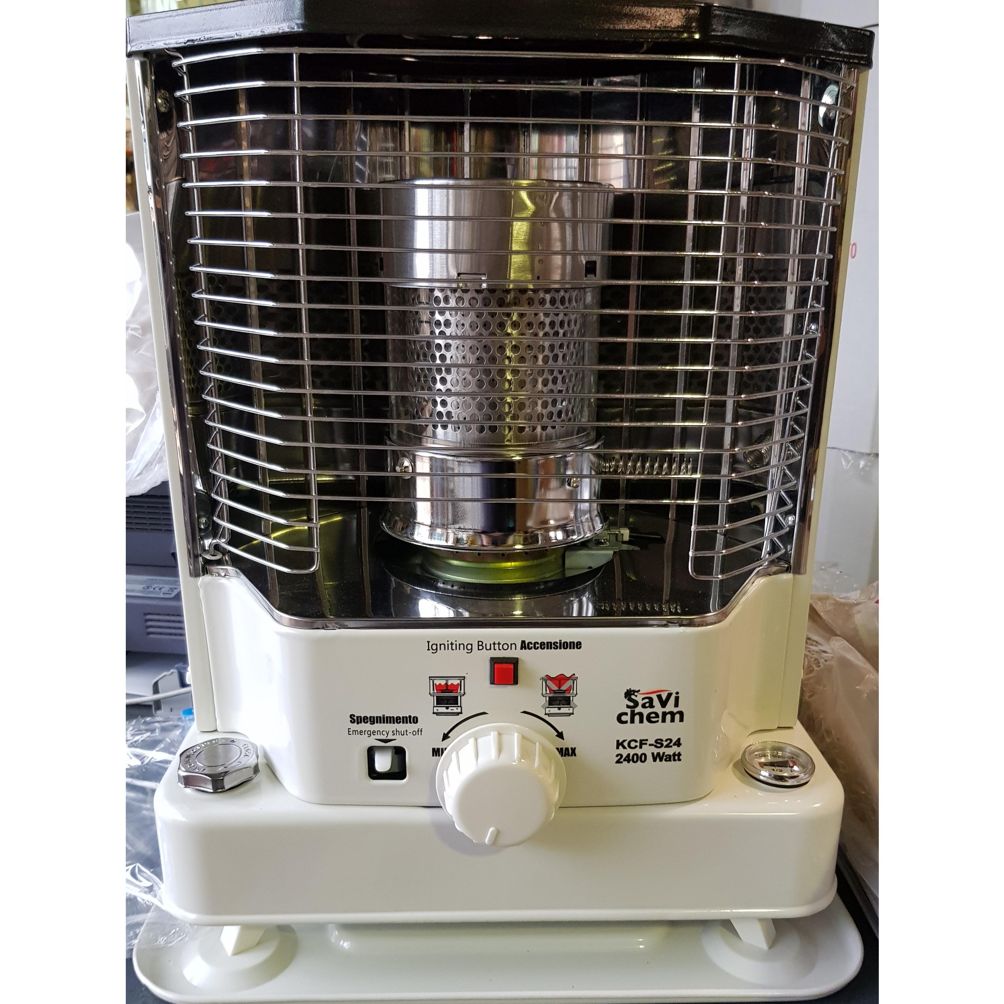 Stufa Combustibile Liquido 2400 Kw 2.4 Piezo Elettrico Stoppino Savichem KCF-S24
