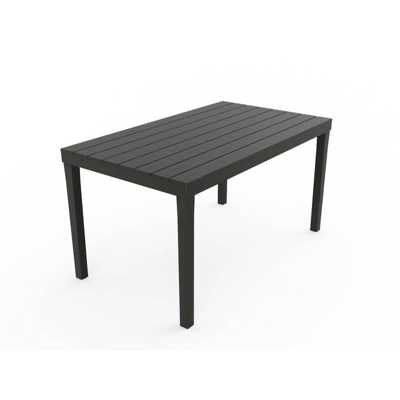Tavolo tavolino rettangolare Sumatra in resina finto legno nero antracite