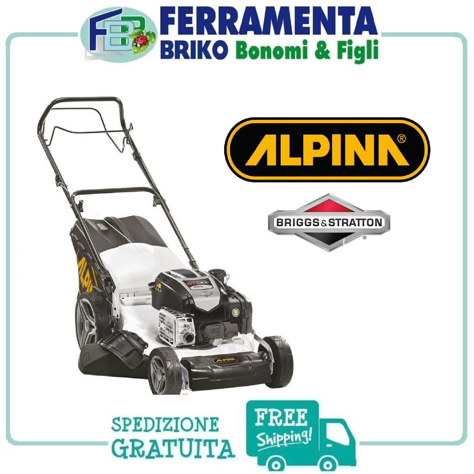 TOSAERBA ALPINA AL3 51 SBQ B&S 675 EX series XLS R.Start rasaerba tagliaerba