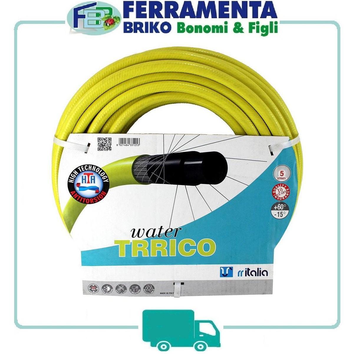 tubo irrigazione gairdino giallo WATER TRicotex 25 M METRI 5/8 6 strati