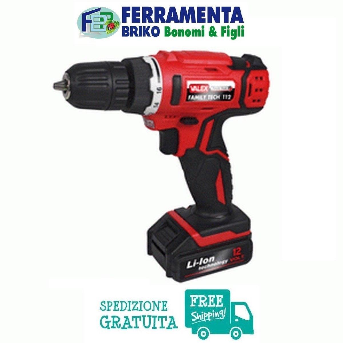 VALEX 1429400 FAMILY TECH 112 TRAPANO AVVITATORE A BATTERIA AL LITIO 12 V